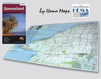 Inside of Queensland Large Format State Map