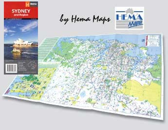 Inside of the Sydney & Region Handy Map